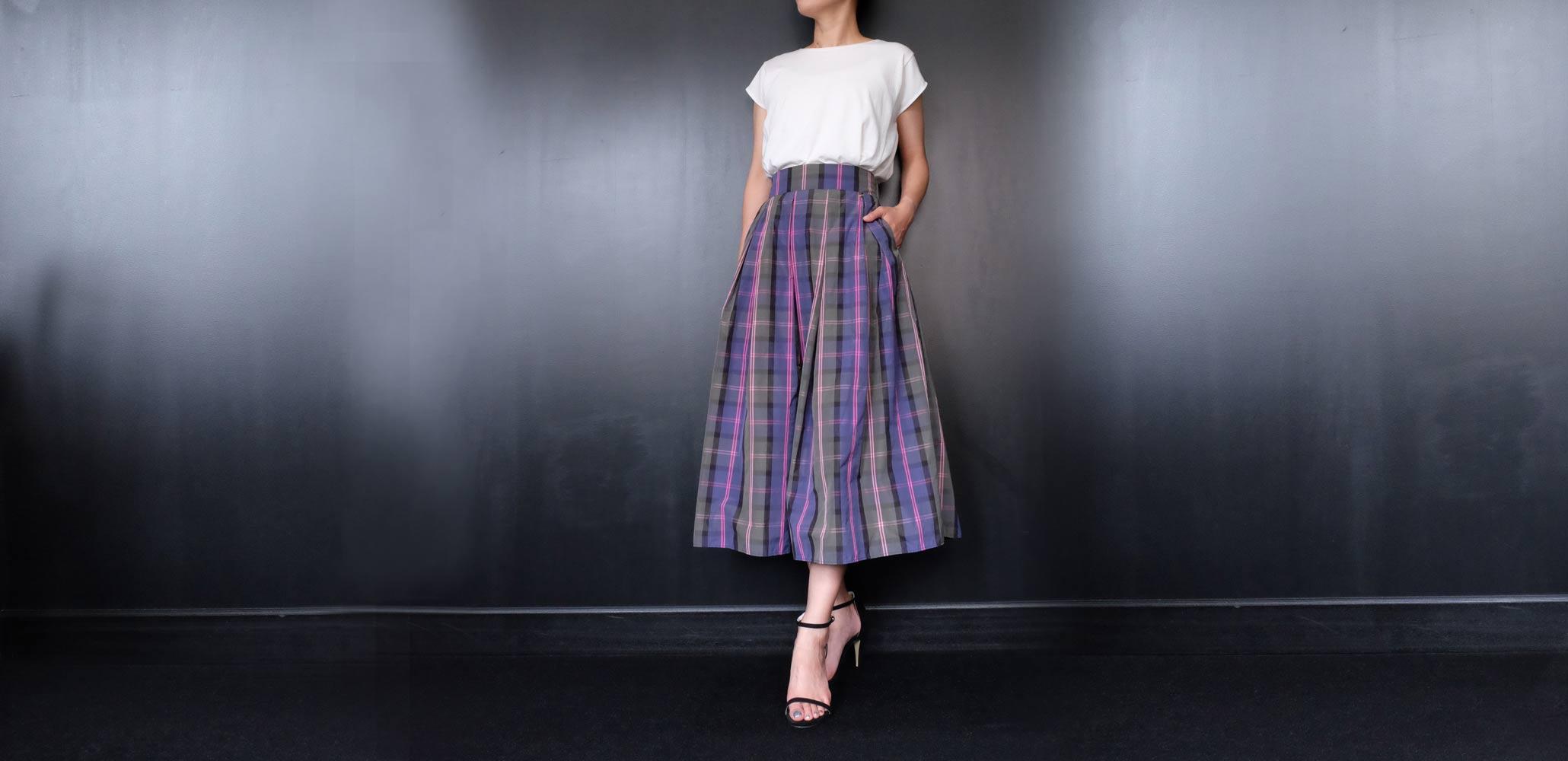 TRECODE人気商品のチェック柄スカート