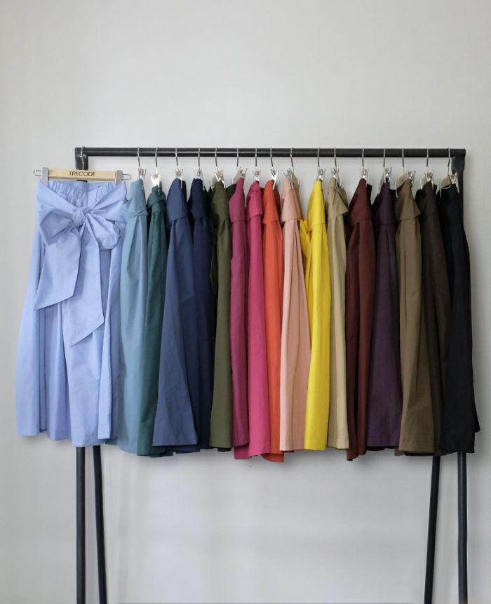 共布リボンベルト付き神戸・山の手リボンスカート(フルロング)