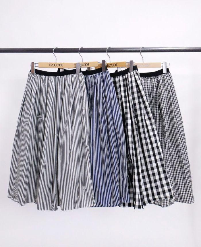 神戸・山の手スカート ミモレ 柄物