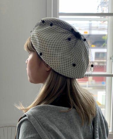チュールベレー帽