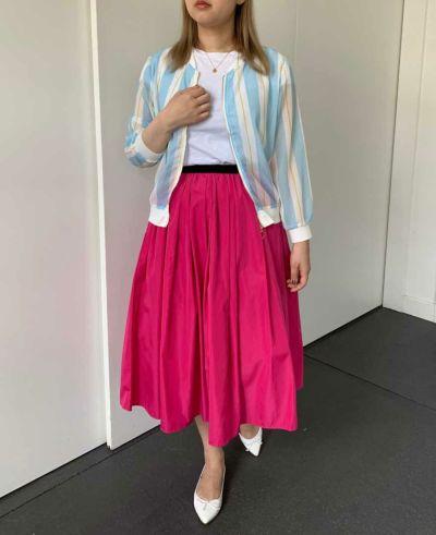 【生産終了色限定セール】神戸・山の手スカートミモレ丈