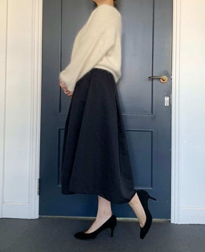 神戸・山の手リバーシブルドットスカート