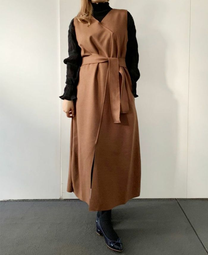 カシュクール風ロングジャンパースカート