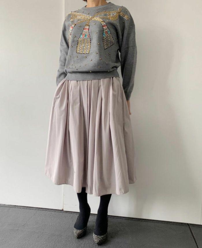 身長159cm 山の手スカートとコーディネート