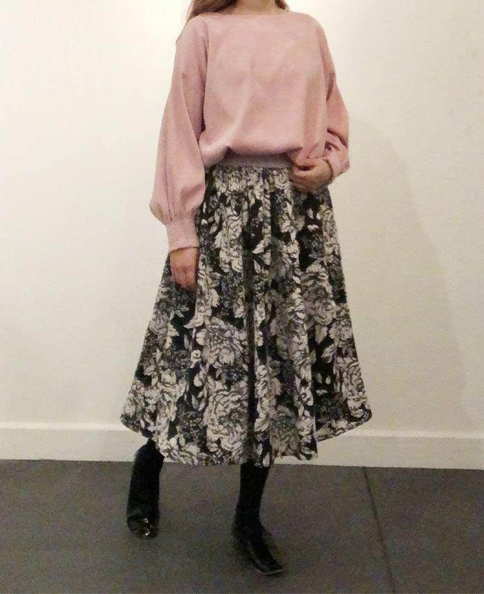 身長159cm 神戸山の手ローズスカートとコーディネート