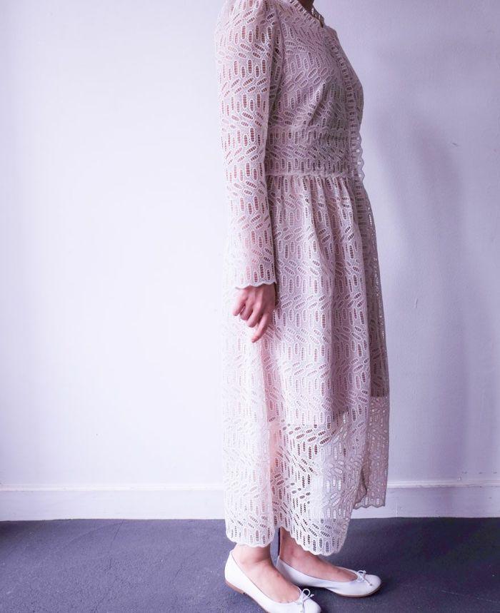 裾の透け感が綺麗