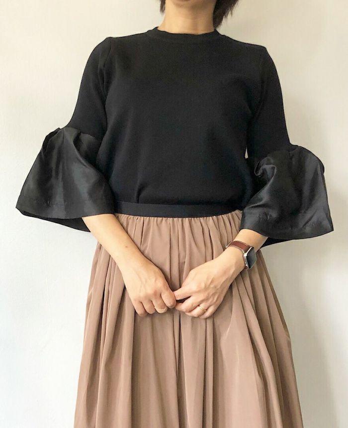 身長159cm シナモンの神戸山の手スカートで大人っぽく