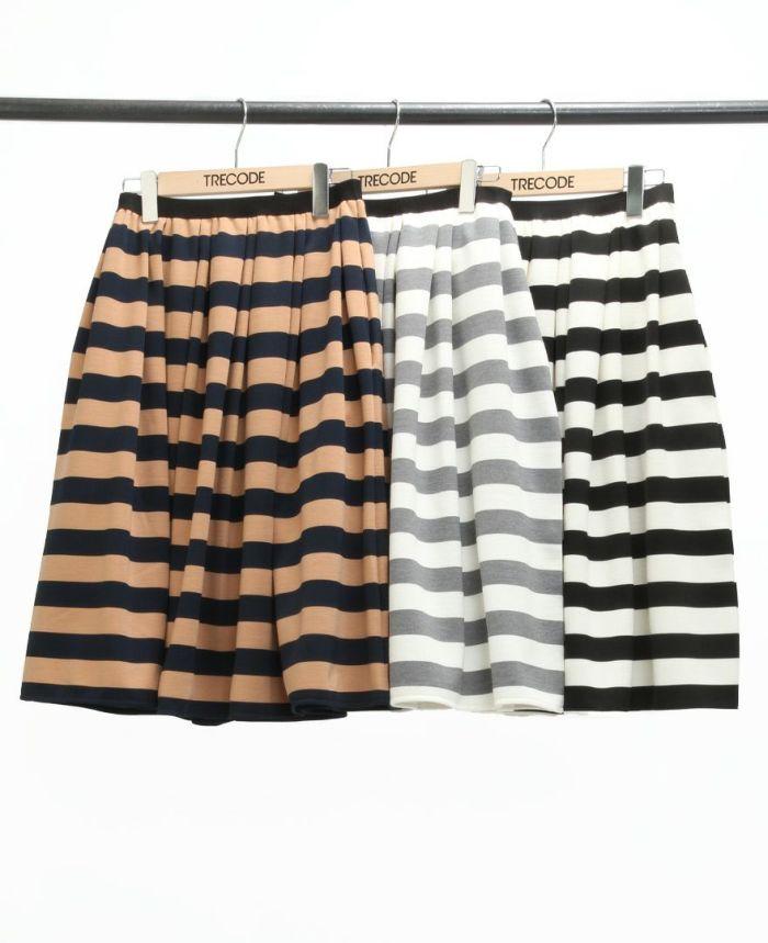 神戸・山の手ボーダースカート ミモレ丈 カラー展開
