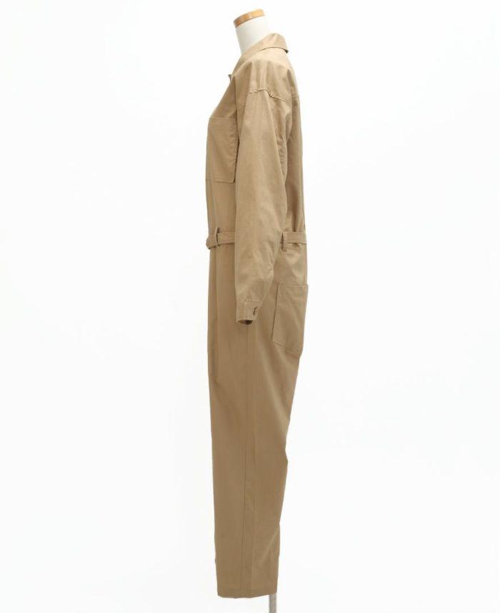 コットンジャンプスーツ サイド