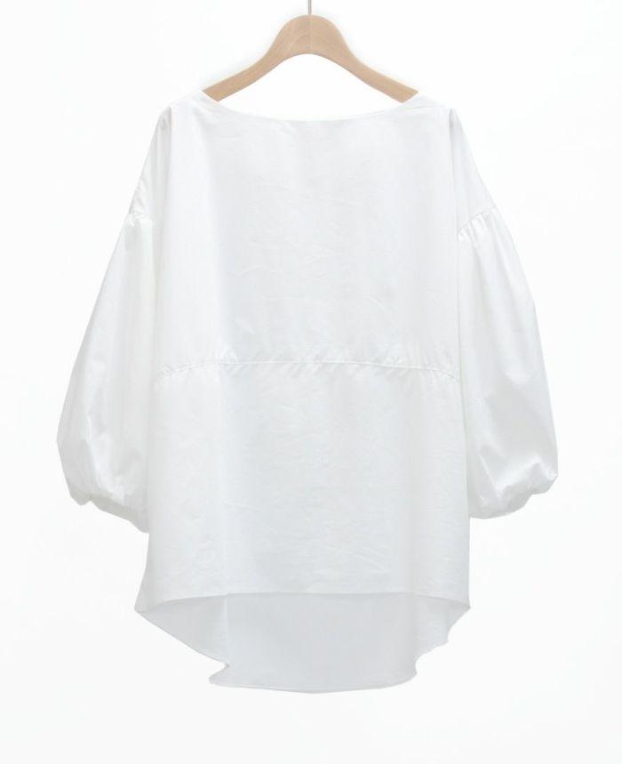 ふんわりボリューム袖ブラウス ホワイト