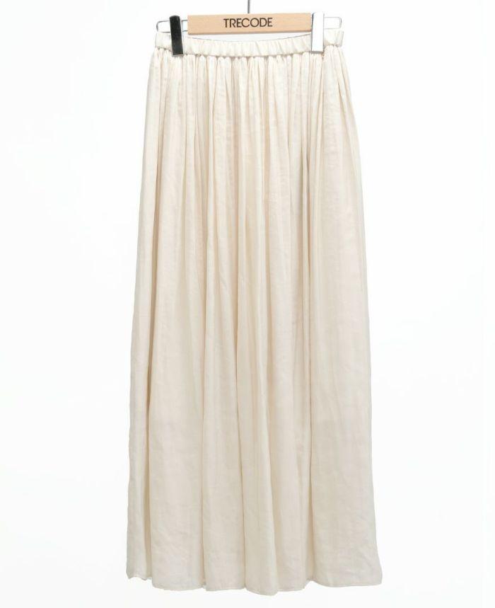 シフォンギャザーマキシスカート シルバー