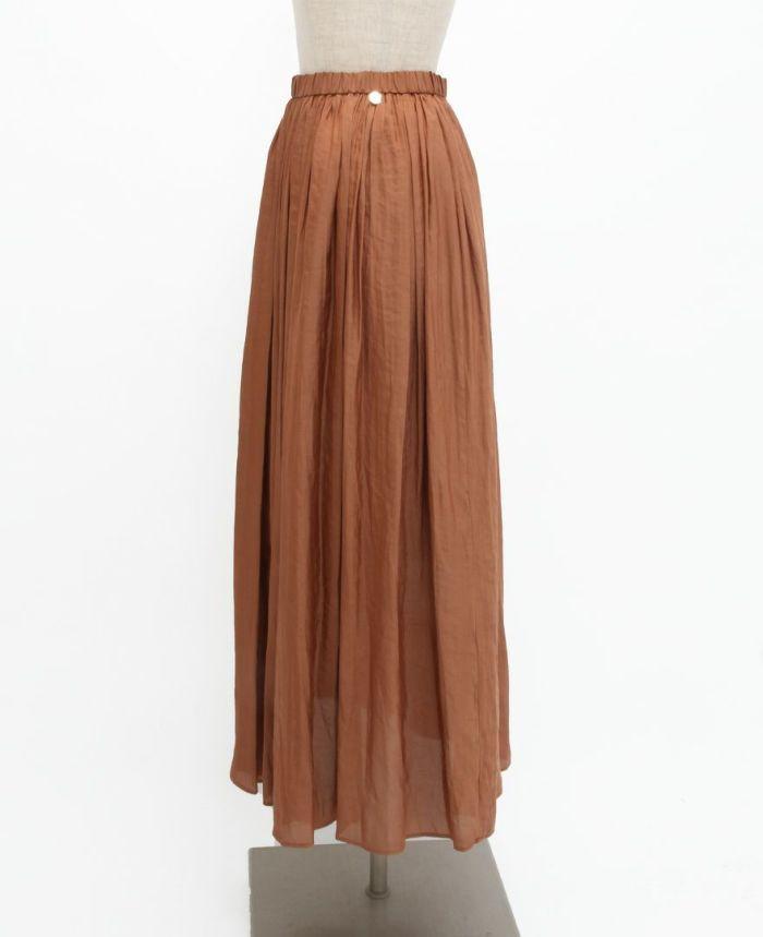 シフォンギャザーマキシスカート サイド