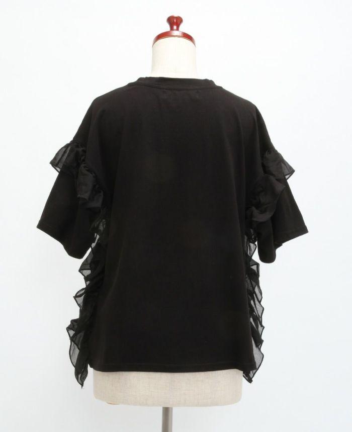 サイドフリル半袖Tシャツ バック