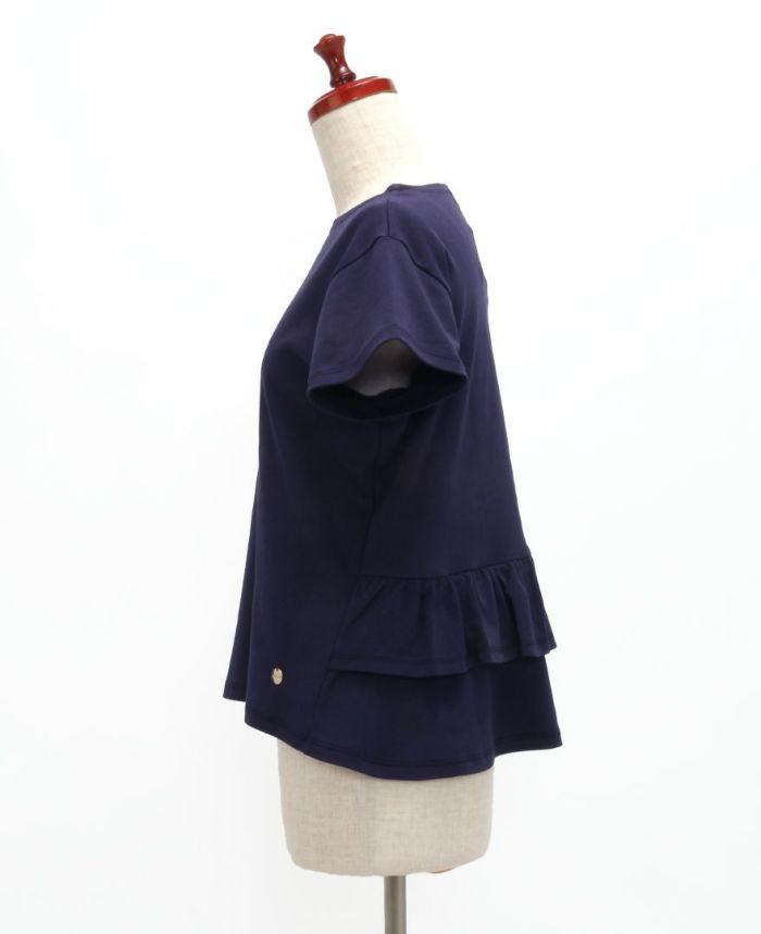 バックフリル半袖カットソー サイド