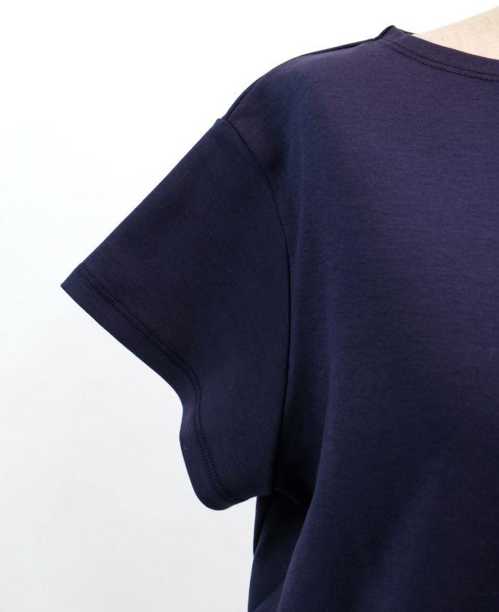 バックフリル半袖カットソー 袖