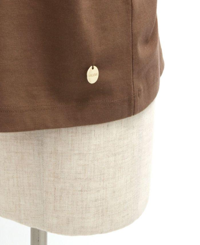 オーガニックコットンフレンチスリーブカットソー 裾