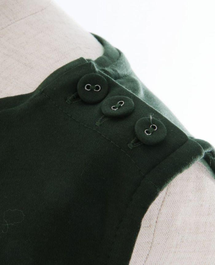 シルクライクUVカットワンピース 肩ボタン