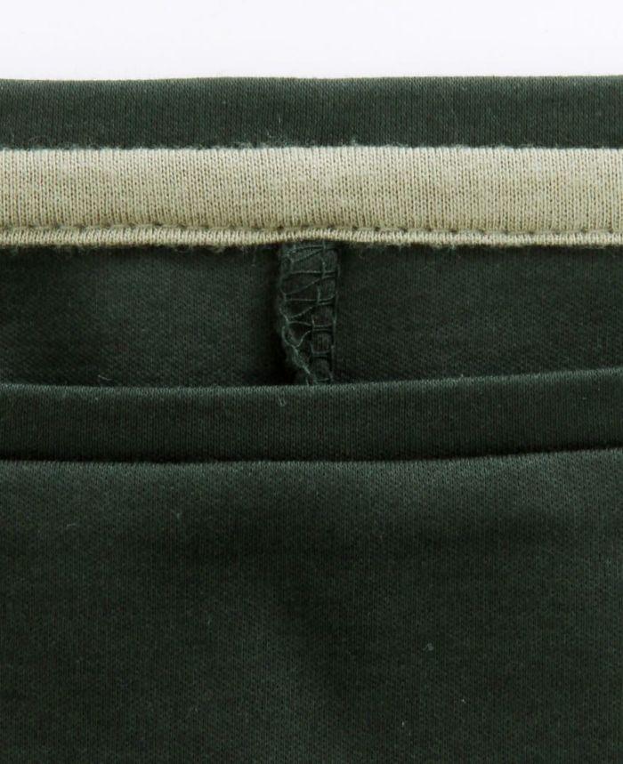 シルクライクUVカットワンピース 衿ぐり グリーン