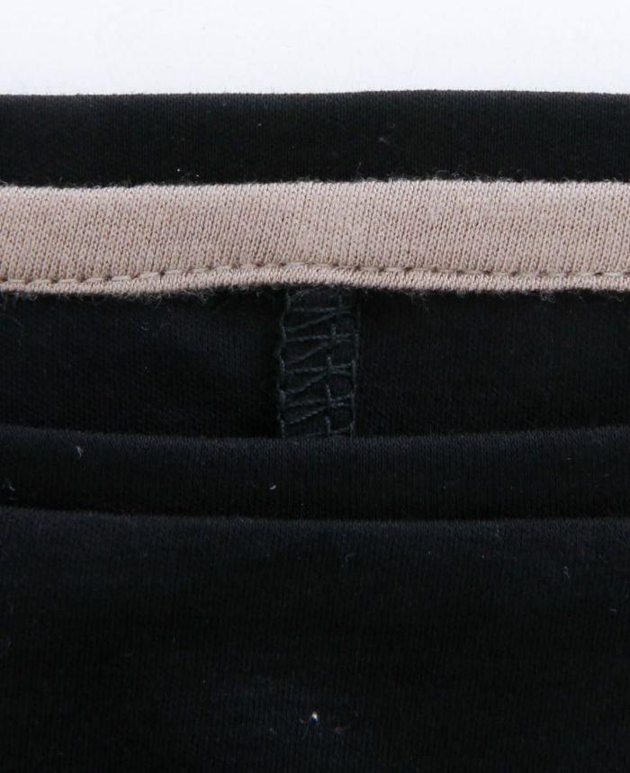 シルクライクUVカットワンピース 衿ぐり ブラック