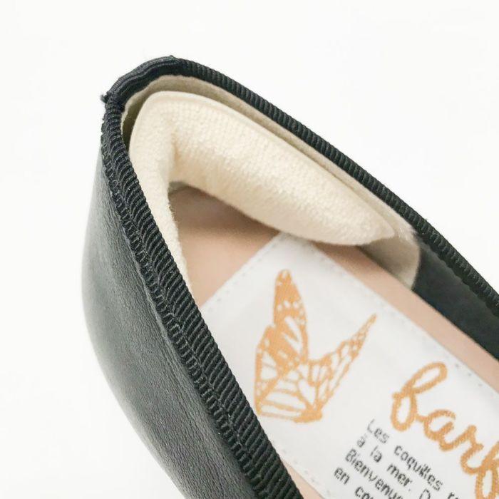 マイフィット 靴ぬげ対策 低反発かかとパッド(ベージュ) 着用イメージ