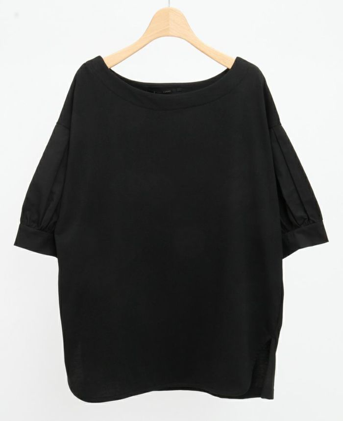 タックスリーブコットンTシャツ ブラック