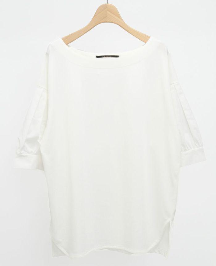 タックスリーブコットンTシャツ ホワイト