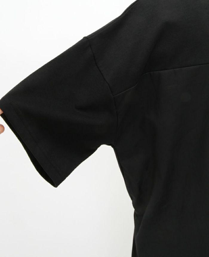 シャーリングバックロングトップス 袖