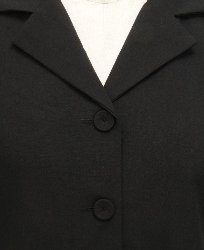 ドッキングギャザーシャツワンピ ボタン部分