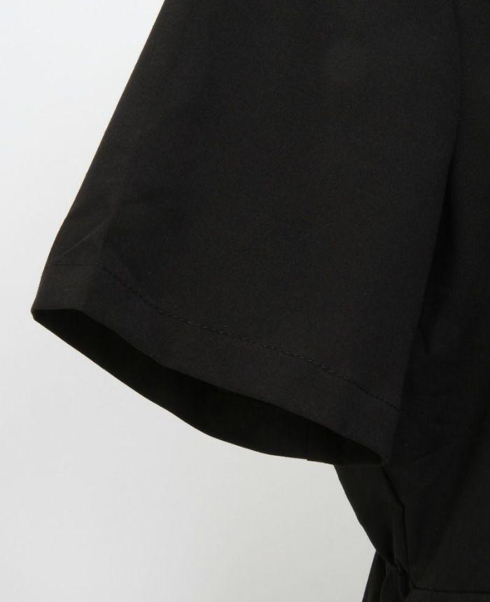 ドッキングギャザーシャツワンピ 袖