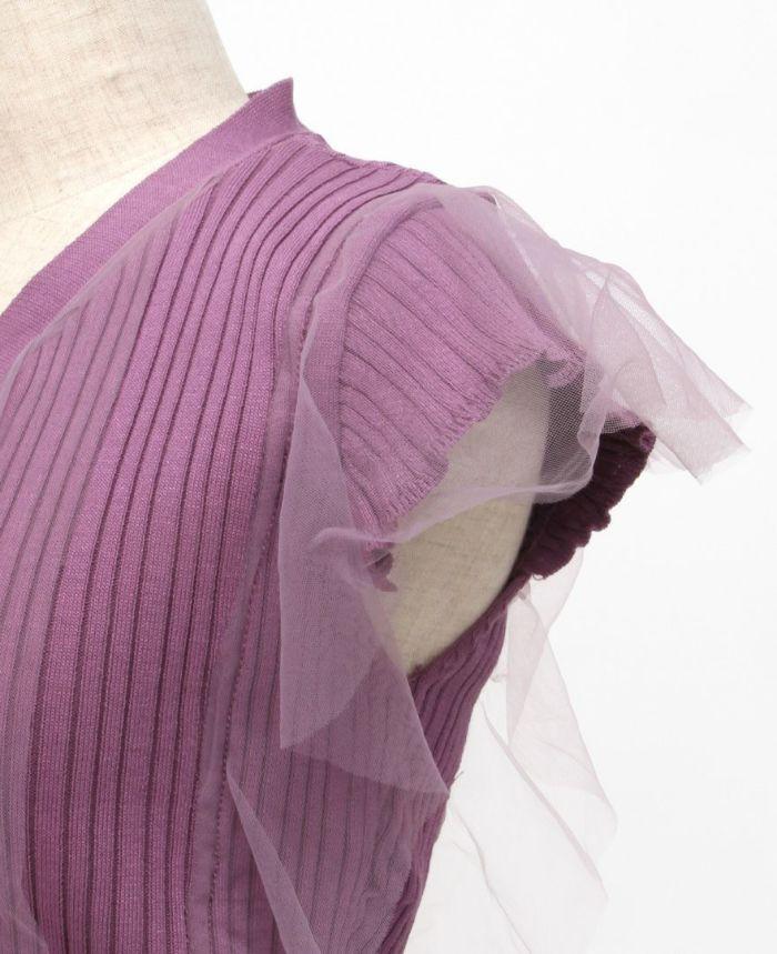 フリルチュールサマーニット 袖