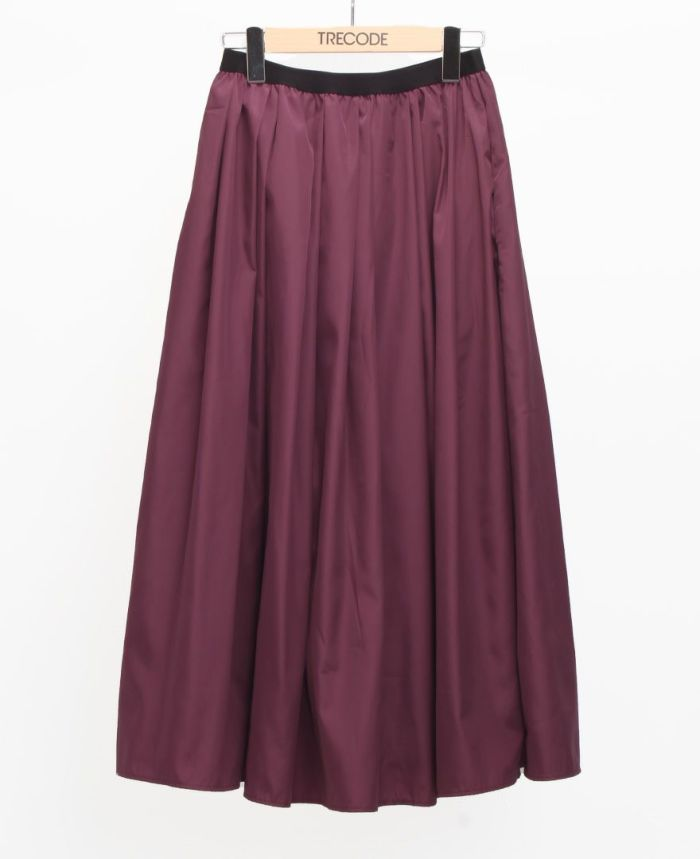 神戸・山の手スカート マキシ丈 パープル