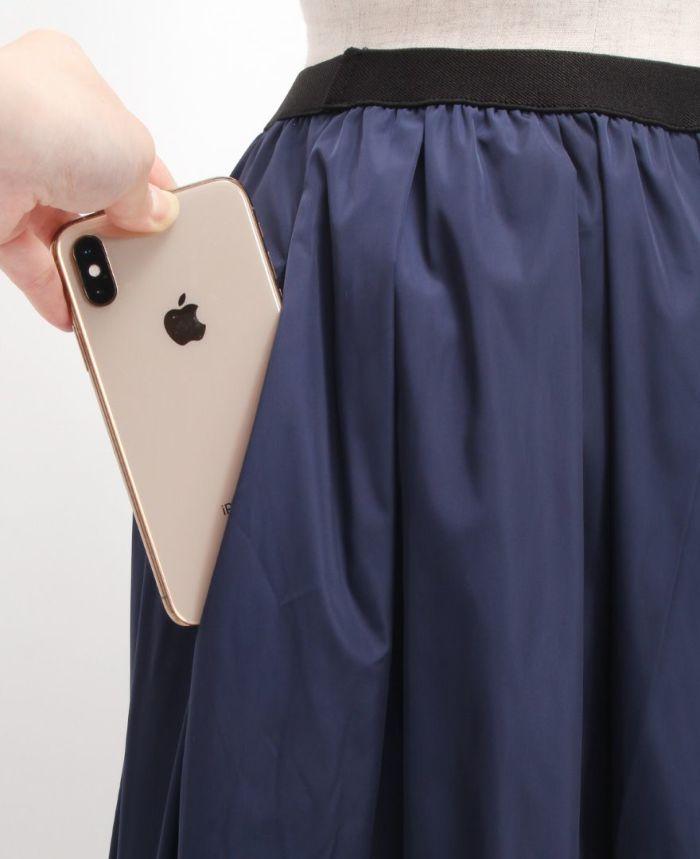 神戸・山の手スカート マキシ丈 ポケット