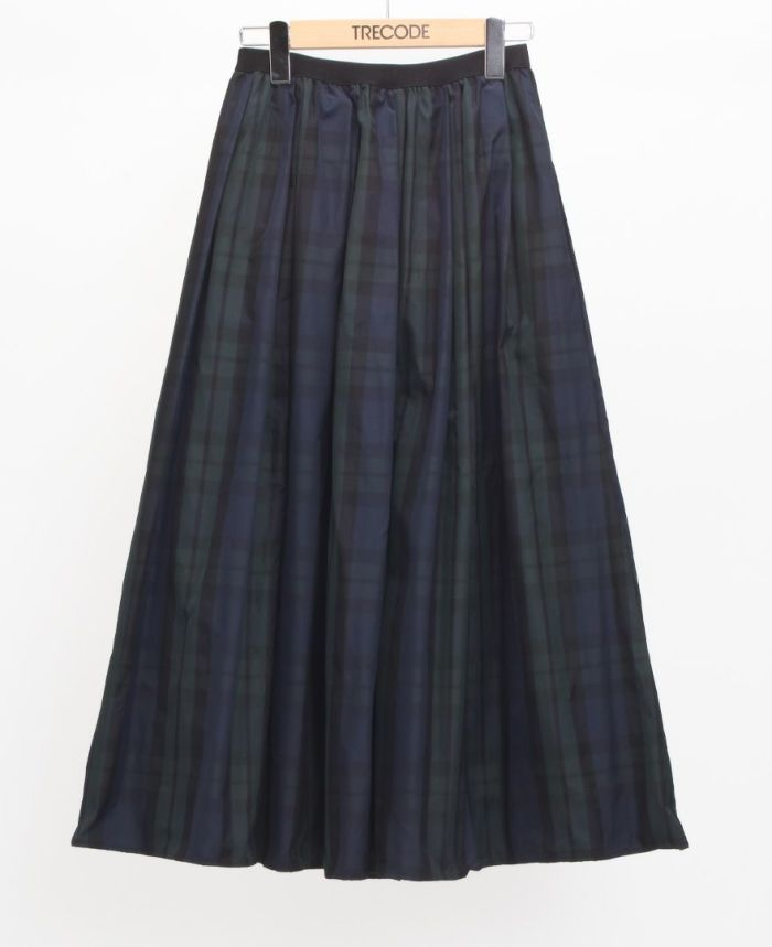 神戸・山の手タータンスカート マキシ丈 グリーン