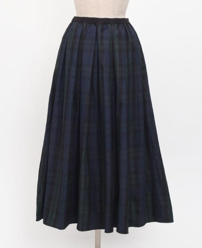 神戸・山の手タータンスカート マキシ丈 フロント