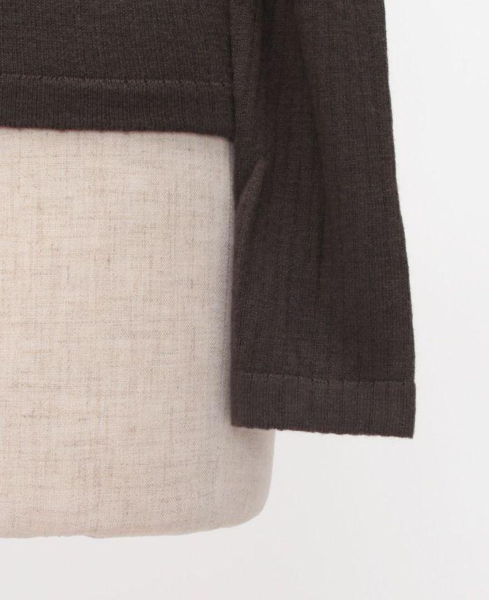 リブニット+カギ編みビスチェSET 袖