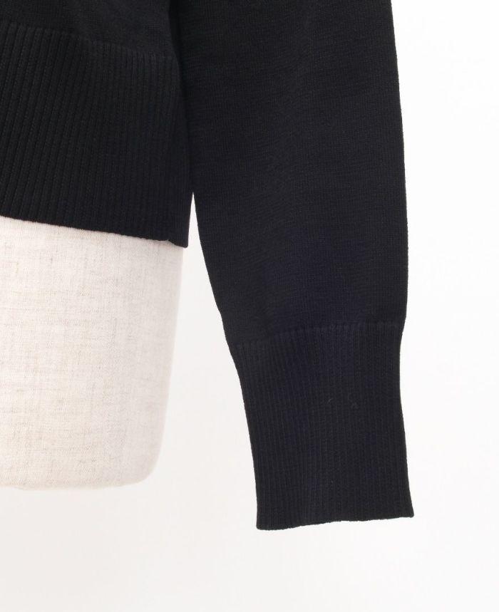 立体リボンカーディガン 袖 ブラック