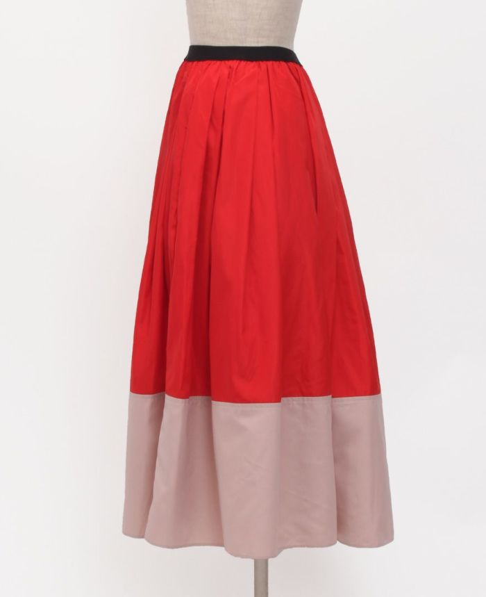神戸・山の手 だんだんエシカルスカート ミモレ丈 サイドスタイル