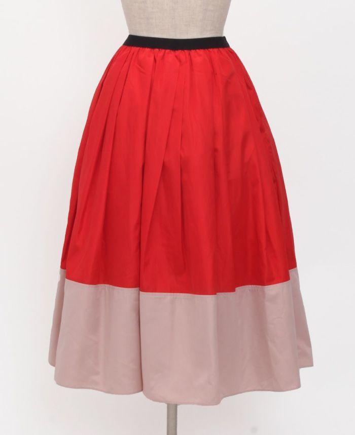 神戸・山の手 だんだんエシカルスカート ミモレ丈 バックスタイル