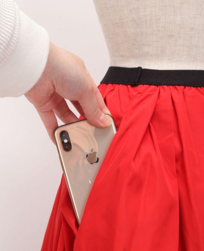 神戸・山の手 だんだんエシカルスカート ミモレ サイド両ポケット