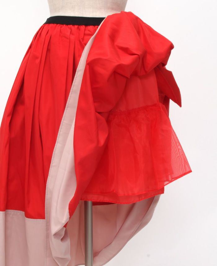 神戸・山の手 だんだんエシカルスカート ミモレ丈 スカート チュール