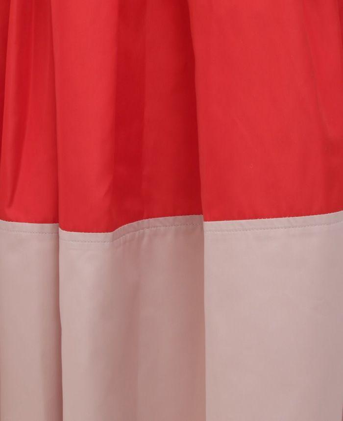神戸・山の手 だんだんエシカルスカート ミモレ丈 ツートンカラー 切り替え ツートンカラー バイカラー