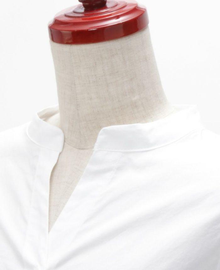 デザイン袖スキッパーブラウス ネックスタイル
