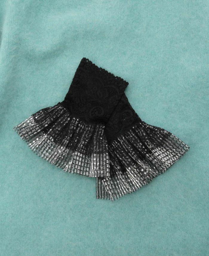 ラメつけ袖