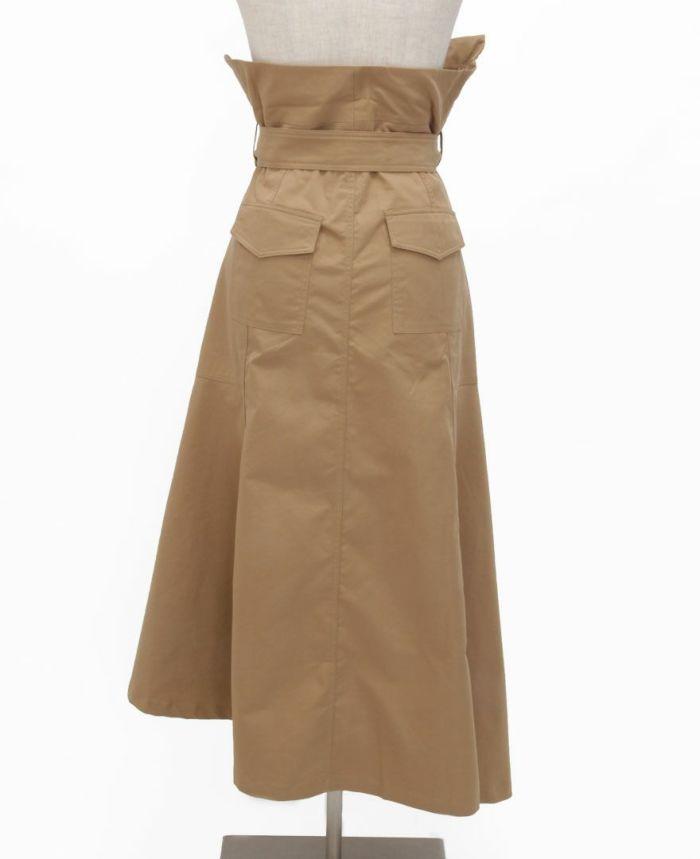 トレンチ風フレアスカート バックスタイル