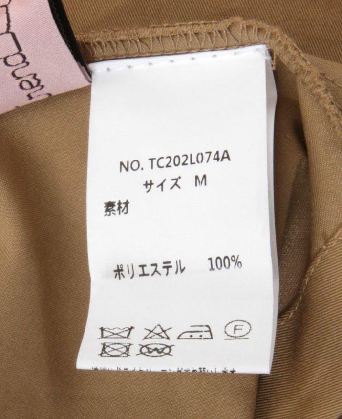 トレンチ風フレアスカート 洗濯表記