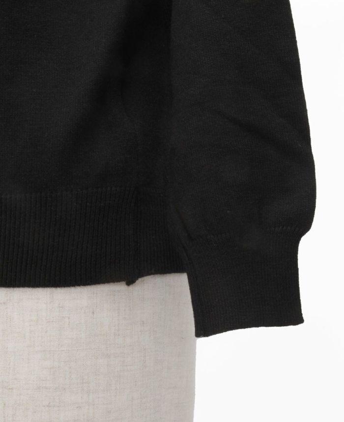 パールボタンニット 袖