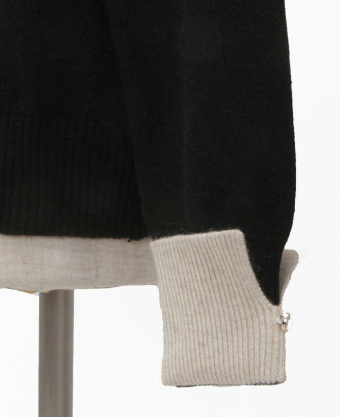 襟付きニット 袖