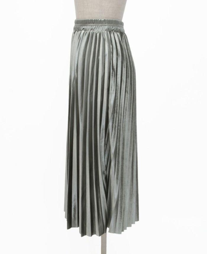 ベロアプリーツスカート サイド