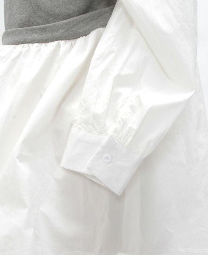 シャツドッキングニット 袖