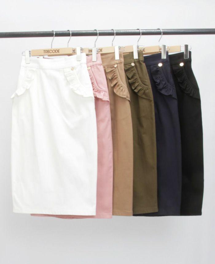 神戸・山の手ポケットフリルスカート カラー展開